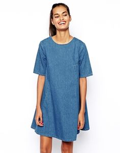 Denim swing dress.