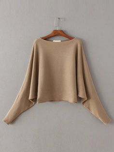 Shop Khaki Boat neck Dolman Sleeve Sweater online. SheIn offers Khaki Boat neck Dolman Sleeve Sweater & more to fit your fashionable needs.