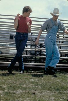 "Kevin Bacon and Chris Penn in ""Footloose"" (1984)"