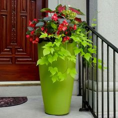 8880-MG-Modesto 32in Tall Macaw Green-LS (3) Plastic Planter Boxes, Tall Planters, Outdoor Pots, Backyard Lighting, Less Is More, Material Design, Wall Design, Contemporary Design, Gardening