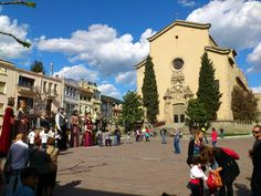 Plaça de l'Església en la Garriga, Cataluña
