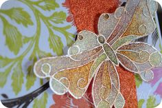 Bright Butterfly with Glitter Ritz