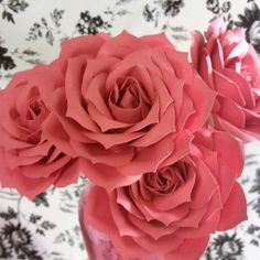 "Dozen 3 1/2"" Large Paper Roses-Custom colors available. These are the pwrfect gift! Flowers by MyPaperbloomsAplenty"