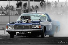 Blown Holden WB Ute burnout