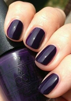winter opi dark purple 19 ideas - -Nails winter opi dark purple 19 ideas - - Beautiful Women Style 2019 With Type Opi Nail Polish 31 𝐌𝐚𝐫𝐭𝐚 🇬🇧 𝐍𝐚𝐢𝐥𝐬-𝐨𝐧-𝐓𝐡𝐚𝐦𝐞𝐬 ( Cute Nails, Pretty Nails, Dark Nails, Dark Purple Nail Polish, Plum Nails, Colorful Nail Designs, Opi Nails, Nail Polish Colors, Winter Nails