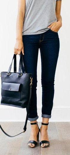 essentials. indigo jeans.