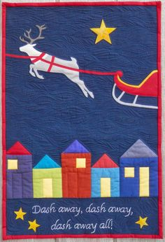 'Twas the Night Before Christmas'  by Charlotte Scott. Patterned in Down Under Quilts (Australia), electronic version available, November 2014