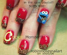 cookie monster nail art!!!  http://www.youtube.com/watch?v=G2PnEhOAz1I
