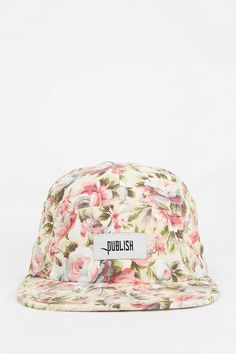 Floral is the bomb! 5 Panel Hat, Caps Hats, Baseball Cap, Urban Outfitters, Jewelry Accessories, Swag, Jewels, Floral, Clothing