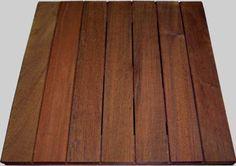 Ipe deck tiles, snap together for floating deck.