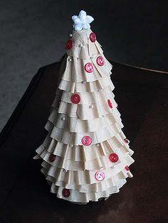 Coffee filter Christmas tree