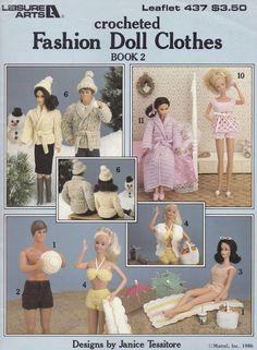 Fashion Doll Kleider Buch 2 und Leisure Arts Crochet Muster