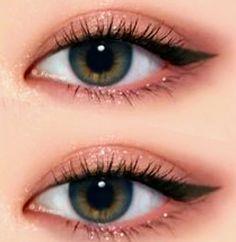 Makeup Korean Style, Korean Makeup Tips, Asian Eye Makeup, Pink Eye Makeup, Eye Makeup Art, Natural Eye Makeup, Eyeshadow Makeup, Pink Eyeshadow, Hair Makeup