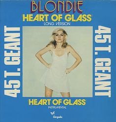 "For Sale - Blondie Heart Of Glass - Blue Sleeve France  12"" vinyl single (12 inch record / Maxi-single) - See this and 250,000 other rare & vintage vinyl records, singles, LPs & CDs at http://eil.com"