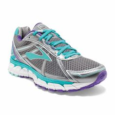 2cee2f2904b Brooks Womens Defyance 9 Neutral Lace Up Running Shoes Anthracite 120205