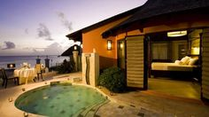 Stay at Sandals Grande in St Lucia and enjoy one of the resorts beachfront rondovals with a private plunge pool and whirlpool. Enjoy an all-inclusive honeymoon package that includes a special turndown service with flower petals, a bottle of chilled sparkling wine and breakfast in bed!