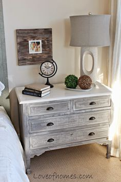 Parade Of Homes Beautiful Bedrooms Master Bedroom Makeover, Master Bedroom Design, Home Bedroom, Furniture Makeover, Home Furniture, Steel Furniture, Kitchen Furniture, Dresser As Nightstand, Nightstand Ideas