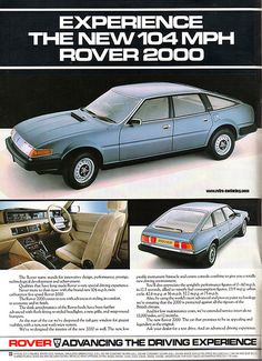 Retro-Motoring : Classic and Retro car enthusiasm ++ Rover automobilia and gift items for sale ++ Classic Motors, Classic Cars, Classic Auto, Vintage Advertisements, Vintage Ads, Car Rover, Austin Cars, Car Brochure, Cars Uk