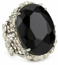 "Sorrelli ""French Blush"" Bold Crystal Vintage Adjustable Silvertone Ring Sorrelli. $90.00"