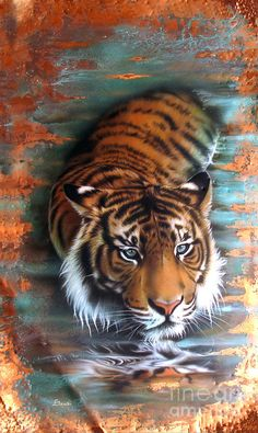 Copper Tiger II Painting