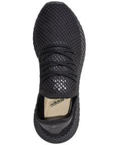 7c04ea298 adidas Men s Deerupt Runner Casual Sneakers from Finish Line - Black 10.5  Black 13