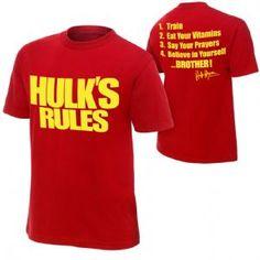 WWE Hulk Hogan Hulk's Rules T-Shirt