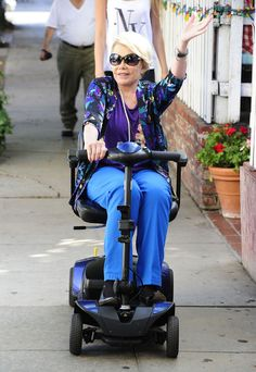Joan Rivers Scootin' Around Los Angeles