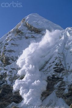 An avalanche is a geophysical hazard involving a slide of a large snow or rock mass down a mountainside, caused when a buildup of material is released down a slope, it is one of the major dangers faced in the mountains in winter. As avalanches move down the slope they may entrain snow from the snowpack and grow in size.