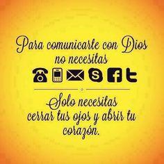 Para comunicarte con Dios no necesitas...