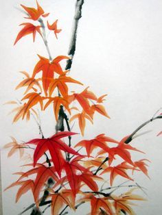 Image result for maple sumie painting