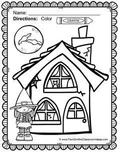 #Free Halloween Coloring Page in the Preview Download! Halloween Fun! Color For Fun Printable Coloring Pages {62 coloring pages equals less than 9 cents a page.} $