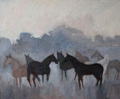 "54/65 ""Brumes Matinales"" 2014 Oil on Canvas #horse #horsepainting #horsepainter #paintingforsale #figurativepainting #figurativepainter #oilpainting #artfinder #saatchiart #artstack"