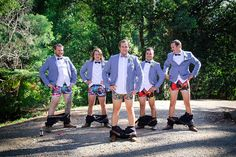 It was a bit of cheeky fun for Gold Coast groom Ryan and his groomsmen as they donned their finest superhero underwear.  Image captured by Kaitlyn Renee Photography