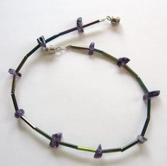anklet or bracelet - beading wire, bead chips, and bugles