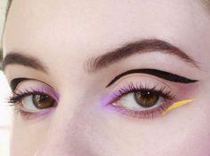 black, lavender, yellow