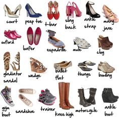 """shoe glossary"", Imogen Lamport, Wardrobe Therapy, Inside out Style blog, Bespoke Image, Image Consultant, Colour Analysis"