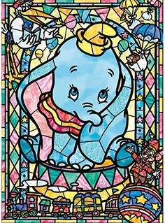 Tenyo Japan Jigsaw Puzzle Disney Dumbo Stained Art Pieces) is part of Disney dumbo - Jigsaw Puzzle Finished size is 18 2 x 25 7 cm This is a Stained Art Jigsaw Puzzle and each pieces is like a colored see through type of plastic Arte Disney, Disney Magic, Disney Art, Dumbo Disney, Disney Stained Glass, Stained Glass Art, Disney Puzzles, Cartoon Elephant, Cute Disney Wallpaper