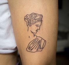 Statue Tattoo, Sculpture Tattoo, Roman Sculpture, Angel Sculpture, Hand Sculpture, Sculpture Ideas, Modern Sculpture, Bronze Sculpture, One Line Tattoo