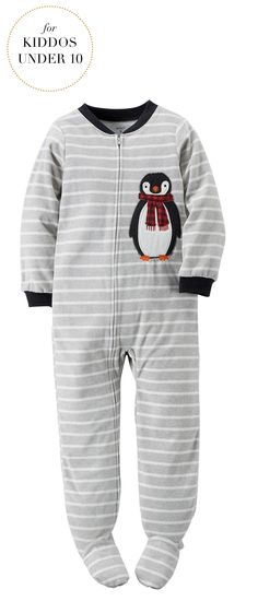Gifts For Kids Under 10 | Carter's® Boys' 4-8 Penguin Striped Sleeper  | Very Merry Gift Guide