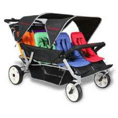 Strollers for quadruplets