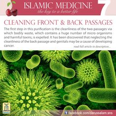 Cleaning the front and back passages and avoiding impurities.The first step in this purification is the cleanliness of the two passages via which bodily waste, which contains a huge number of micro organisms and harmful toxins, is expelled. #DarussalamPublishers #IslamicMedicine #IslamicEBooks #AmazonKindle #KindleStore #BarnesAndNoble