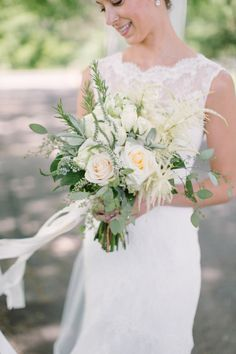 Gorgeous bouquet: http://www.stylemepretty.com/wisconsin-weddings/madison-wi/2015/03/17/traditionally-elegant-grove-wedding/ | Photography: M Three Studio - http://www.mthreestudio.com/