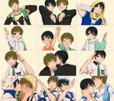 Haru x Makoto ~ This is too cute!