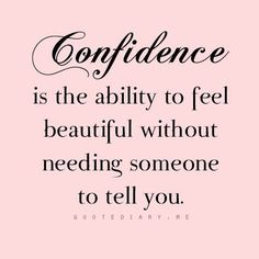 Confidence #OwnYourPretty