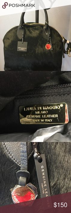 Laura Di Maggio Alma style bag new with tags This bag is gorgeous. Brand new never used. Fur and Italian leather.  Comes with dust bag laura di maggio Bags Satchels