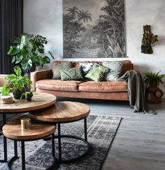No photo description available. Boho Living Room, Living Room Colors, Living Room Grey, Interior Design Living Room, Living Room Designs, Living Room Decor, Interior Exterior, Home Interior, Style Deco