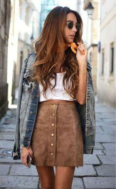 Vintage Fashion Corduroy High Waist Mini Skirt