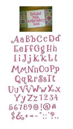 Tickled Pink Embroidery Font Machine Embroidery Designs by JuJu