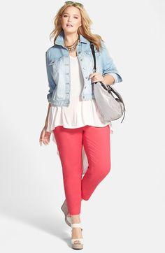 Plus Size Fashion - Plus Size Crop Denim Jacket (Plus Size) | Nordstrom
