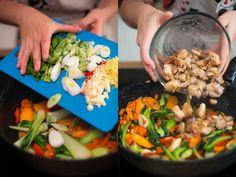 Kung pao: recept na rychlou večeři s kuřecím masem a zeleninou Orzo, Grains, Rice, Food, Essen, Meals, Seeds, Yemek, Laughter